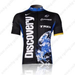 2007 Team Discovery Cycling Jersey Black Blue