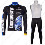 2007 Team Discovery Cycling Long Bib Kit Black Blue
