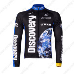 2007 Team Discovery Cycling Long Jersey Black Blue