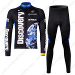 2007 Team Discovery Cycling Long Kit Black Blue