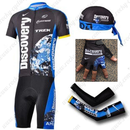 2007 Team Discovery Cycling Set Jersey and Shorts+Bandana+Gloves+Arm Sleeves 35885984c