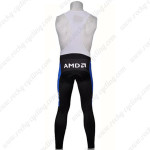 2007 Team Discovery Riding Long Bib Pants Black Blue