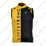 2009 Team LIVESTRONG Cycling Vest Yellow Black
