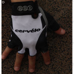 2010 Team CERVELO Cycling Gloves Mitts White Black