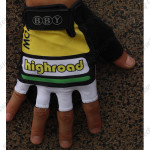 2010 Team HTC highroad Cycling Gloves Mitts Yellow White