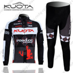 2010 Team KUOTA Cycling Long Kit Black Red