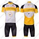 2010 Team LIVESTRONG Cycling Kit White Yellow