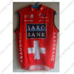 2010 Team SAXO BANK SUNGARD Cycling Vest Sleeveless Jersey Maillot Red