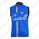 2011 CASTELLI Cycling Vest Sleeveless Jersey Maillot Blue