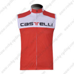 2011 CASTELLI Cycling Vest Sleeveless Jersey Maillot White Red