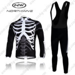 2011 NW Northwave Cycling Long Bib Kit Black White