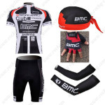 2011 Team BMC Cycling Set Jersey and Shorts+Bandana+Gloves+Arm Sleeves