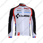 2011 Team CUBE Cycling Long Jersey Maillot Black White