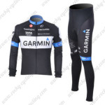 2011 Team GARMIN Pro Cycle Kit Black Long Sleeve