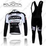 2011 Team KUOTA Cycling Long Bib Kit Black White