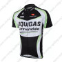 2011 Team LIQUIGAS cannondale Riding Maillot Jersey Shirt Black White Green