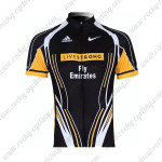 2011 Team LIVESTRONG Cycling Maillot Jersey Shirt Black Yellow