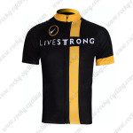2011 Team LIVESTRONG Cycling Maillot Jersey Shirt Black Yellow White