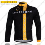 2011 Team LIVESTRONG Riding Long Jersey Maillot Black Yellow