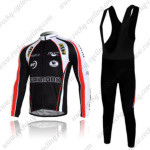 2011 Team SHIMANO Cycling Long Bib Kit Black Red