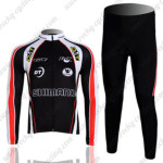 2011 Team SHIMANO Cycling Long Kit Black Red