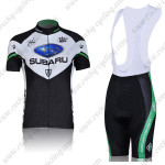 2011 Team SUBARU Women Cycling Bib Kit Black Green