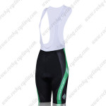 2011 Team SUBARU Women Cycling Bib Shorts Black Green