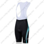 2011 Team SUBARU Women Cycling Bib Shorts Blue