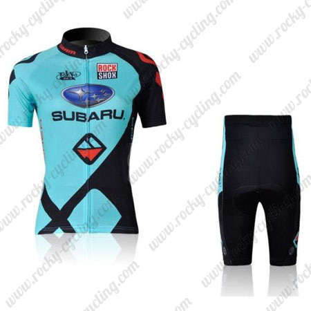 2011 Team SUBARU Women s Cycle Outfit Riding Jersey and Padded Shorts Blue c9723e3d9