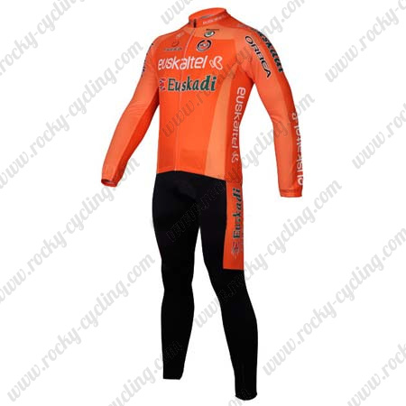 1cc05be17 2012 Team Euskaltel Pro Bicycle Outfit Riding Long Jersey and Padded ...