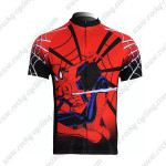 2012 Spiderman Cycling Jersey Maillot Shirt Red Black