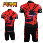 2012 Spiderman Cycling Kit Red Black