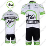 2012 Team 1t4i SHIMANO Cycling Kit White Green