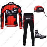2012 Team BMC Cycling Long Suit+Gears Red Black