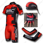 2012 Team BMC Cycling Set Jersey and Shorts+Bandana+Gloves+Arm Sleeves