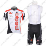 2012 Team Bissell Cycling Bib Kit White Red