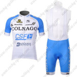 2012 Team COLNAGO Cycling Bib Kit White Blue