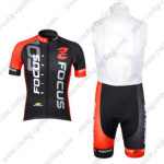 2012 Team FOCUS Cycling Bib Kit Black Red