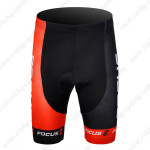 2012 Team FOCUS Cycling Shorts Black Red