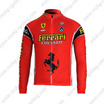 2012 Team Ferari Cycling Long Jersey Maillot Red