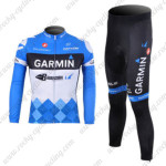 2012 Team GARMIN Cycling Long Sleeve Kit Blue White