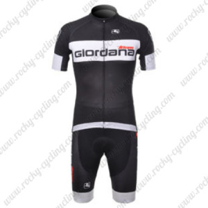 2012 Team Giordana Cycling Kit Black