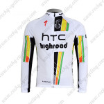 2012 Team HTC highroad Cycling Long Jersey Maillot White