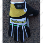 2012 Team HTC highroad Winter Cycling Thermal Fleece Gloves Yellow Black