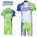 2012 Team LIQUIGAS Cycling Kit Blue White Green