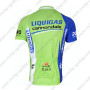 2012 Team LIQUIGAS cannondale Bicycle Maillot Jersey Shirt Blue White Green