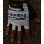 2012 Team LIQUIGAS cannondale Cycling Gloves Mitts White