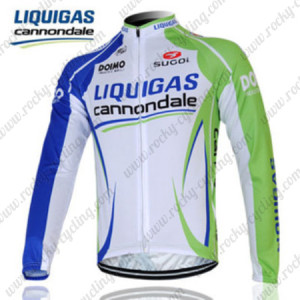 2012 Team LIQUIGAS cannondale Cycling Long Jersey Blue White Green2012 Team LIQUIGAS cannondale Cycling Long Jersey Blue White Green