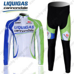 2012 Team LIQUIGAS cannondale Cycling Long Kit Blue White Green