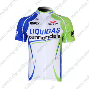 2012 Team LIQUIGAS cannondale Cycling Maillot Jersey Shirt Blue White Green
